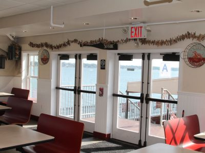 Tony's Pier Restaurant exit to outside seating