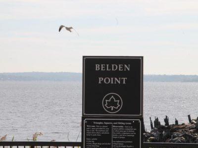 Tony's Pier Restaurant Belden Point sign